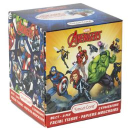 24 Units of Facial Tissue 85ct Marvel Avengers 2ply White Boxed - Tissues