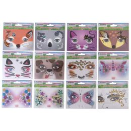 48 Units of Face Art Everyday 12ast Styles Sequin Decor On 12pc Mdsgstrip - Craft Kits