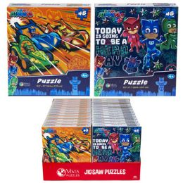 24 Units of Puzzle 48pc Pj Mask 2 Titles In Pdq Size 10.3x9.1 - Puzzles