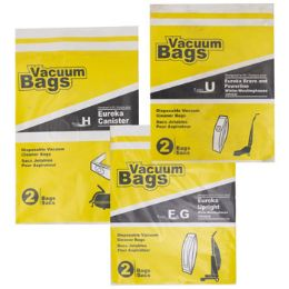 72 Units of Vacuum Bags 2pk Assorted Designed To Fit Eureka Upright - Cleaning Supplies