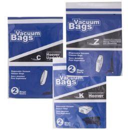 75 Units of Vacuum Bags 2pk Assorted Designed To Fit Hoover - Cleaning Supplies
