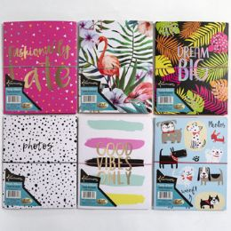 24 Units of Photo Album 7.05 X 8.78in 6asst Designs 10page Holds 40photos - Home & Kitchen