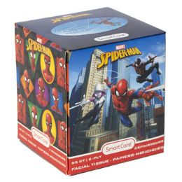 24 Units of Facial Tissue 85ct Marvel Spiderman 2ply White Boxed - Tissues