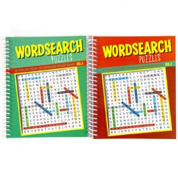 48 Units of Puzzle Book Word Sea Spiral 80 Pg 2 Asstd Counter Dips #7410 - Puzzles