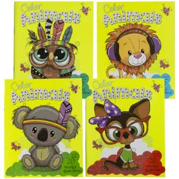 48 Units of Coloring Book Animals In Color 4 Asstd In Counter Display - Coloring & Activity Books