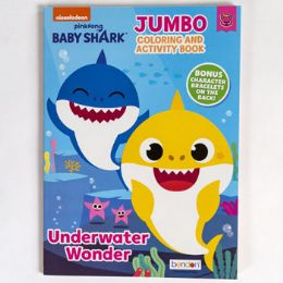 24 Units of Coloring Book Baby Shark Underwater Wonder In 24pc Disply - Coloring & Activity Books