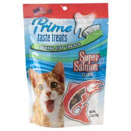 6 Units of Cat Treats Super Salmon Flavor 2.1 Oz Bag In Counter Display - Pet Supplies