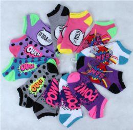 180 Units of MIXED DESIGN LADY SOCKS - Womens Ankle Sock