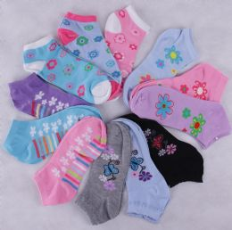 300 Units of MIXED DESIGN LADY SOCKS - Womens Ankle Sock