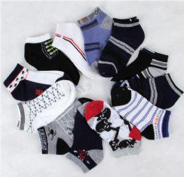 300 Units of BOYS SOCKS 6-8 - Boys Ankle Sock