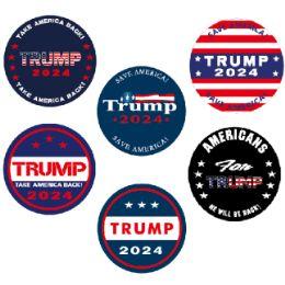 """48 Units of 3""""X3"""" Circle Trump 2024 Bumper Stickers - Auto Accessories"""