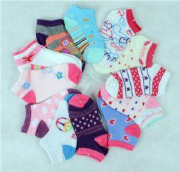 300 Units of GIRL SOCKS 2-4 - Girls Ankle Sock
