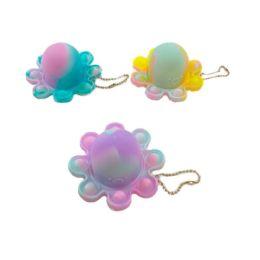 24 Units of Push Pop Fidget Octopus Reversible - Fidget Spinners