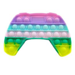 24 Units of Push Pop Fidget Toy Pastel Video Game Controller - Fidget Spinners