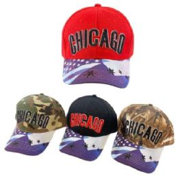 24 Units of CHICAGO Hat Sublimation Star Flag Bill - Hunting Caps