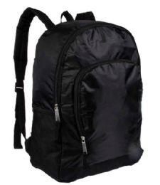 """24 Units of 19"""" Black Sport Backpacks with Side Mesh Water Bottle Pockets - Backpacks 18"""" or Larger"""