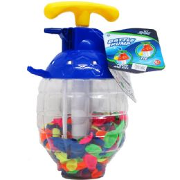 """12 Units of 250 PC WATER BALLOONS IN 10"""" CONTAINER W/ PUMP - Water Balloons"""