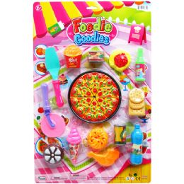 12 Units of 22PC FOODIE GOODIES PLAY SET ON BLISTER CARD - Toy Sets