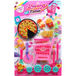 12 Units of 17PC SHOPPING TIME PLAY SET ON BLISTER CARD - Toy Sets