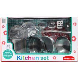 6 Units of METAL KITCHEN PLAY SET - Girls Toys