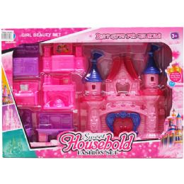 9 Units of CASTLE W/ 6PC FURNITURE PLAY SET - Girls Toys