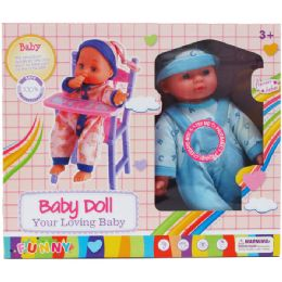 6 Units of Baby Doll With Sound and Crib - Dolls