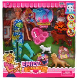 12 Units of EMILY DOLL W/MINI DOLL PETS & ACCSS - Dolls