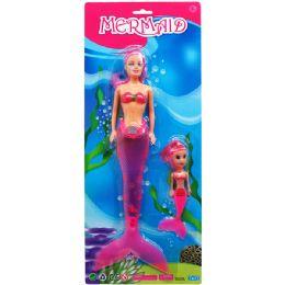 36 Units of Mermaid Doll On Blister Card - Dolls