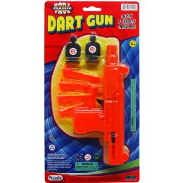 """48 Units of 7.5"""" SOFT DART TOY UZI W/ TARGETS ON BLISTER CARD - Toy Weapons"""
