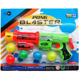 """72 Units of 9.5"""" PONG BLASTER W/ 5PC BALLS - Toy Weapons"""