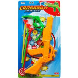 36 Units of Crossbow Play Set With Soft Darts On Card - Toy Weapons
