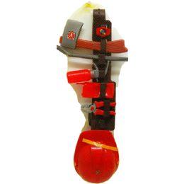 12 Units of 9PC FIRE FIGHTER BELT W/ HELMET - Toy Sets