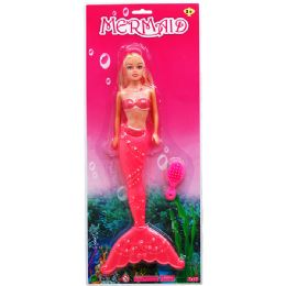 36 Units of Mermaid Doll W Brush - Dolls
