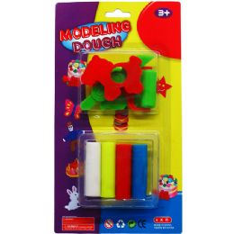 36 Units of DOUGH PLAY SET W/ MOLDS - Clay & Play Dough