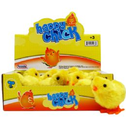 144 Units of WIND-UP CHICK IN 12PC DISPLAY BOX - Toy Sets