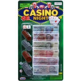 72 Units of 24 ASSRT MEXICAN BILLS CASINO NIGHT MONEY SET ON CARD - Educational Toys