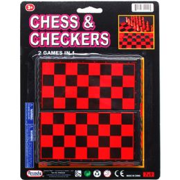 72 Units of 2 IN 1 CHESS & CHECKERS GAME SET - Dominoes & Chess