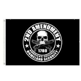 24 Units of 2nd Amend Flag Black America's Original Homeland Security - Signs & Flags