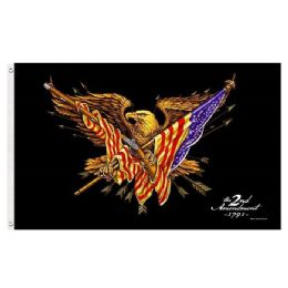 24 Units of 2nd Amendment Flag Shall Not Infringe Fire Arm Eagle - Signs & Flags