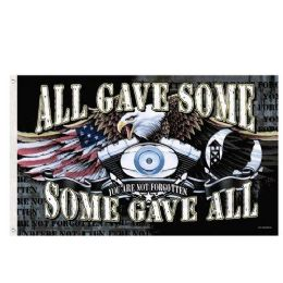 24 Units of ALL GAVE SOME SOME GAVE ALL POW MIA Flag Eagle - Signs & Flags
