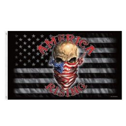 24 Units of AMERICA RISING Flag Black And Gray Flag Skull - Signs & Flags