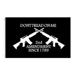 24 Units of DON'T TREAD ON ME Flag Black Guns 2nd Amendment - Signs & Flags