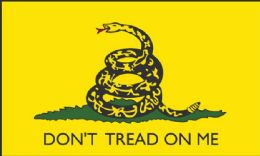 24 Units of DON'T TREAD ON ME Flag Yellow - Signs & Flags