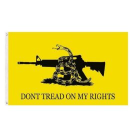 24 Units of DON'T TREAD ON MY RIGHTS Flag Yellow - Signs & Flags