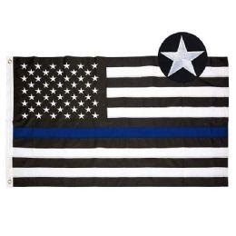 10 Units of Embroidered Blue Line Flag - Flag