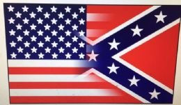 24 Units of Half And Half Confederate American Flag - Signs & Flags
