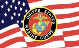 12 Units of Licensed United States Marine Corps Flag - Signs & Flags