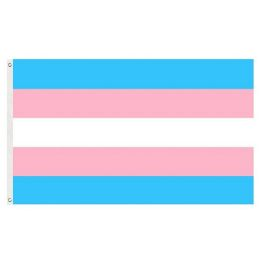 72 Units of Trans Pride Flag Blue Pink And White - Signs & Flags