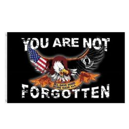 72 Units of You Are Not Forgotten MIA Flag Eagle - Signs & Flags