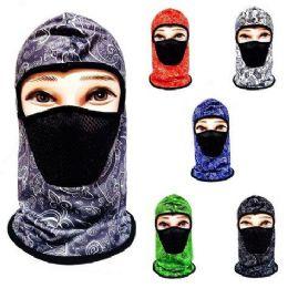 24 Units of Ninja Face Mask Paisley with Mesh - Unisex Ski Masks
